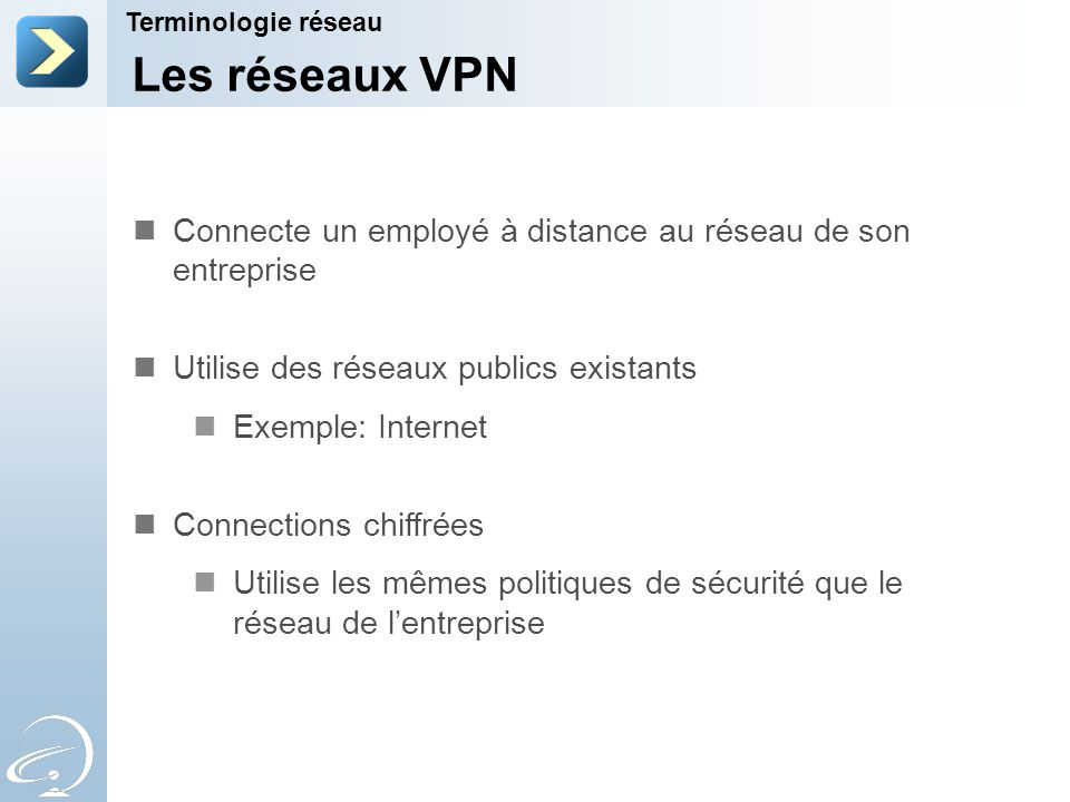 7-Apr-17 7-Apr-17. Terminologie réseau. [Title of the course] [Title of the course] Les réseaux VPN.